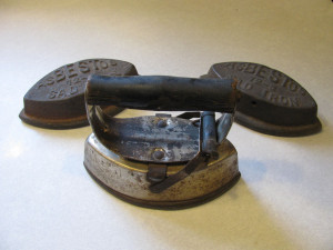 Edna Kline Trausch's iron with two extra irons.