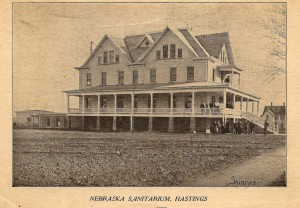This post card photo of the Nebraska Sanitarium was mailed in 1913.