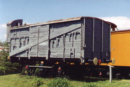 A Forty and Eight boxcar like the one Charles was transported in.
