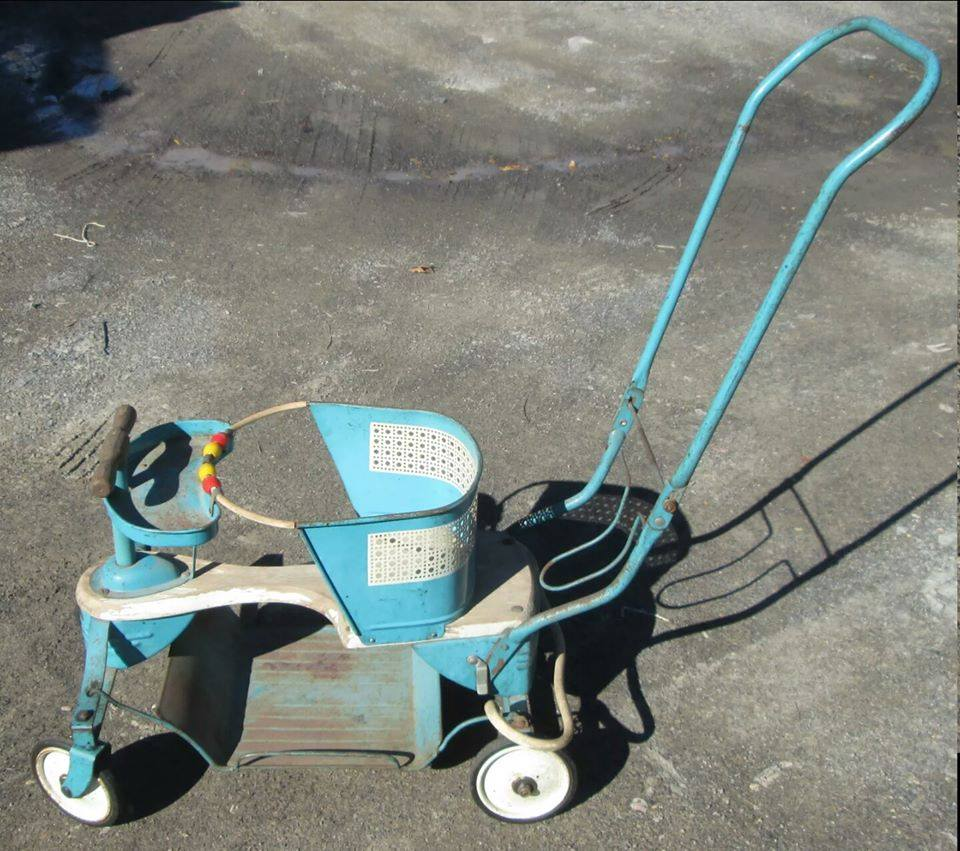 A baby stroller like the one my Mom had.  Ours was stolen when thieves broke into the farm house  This photo was taken from the internet.