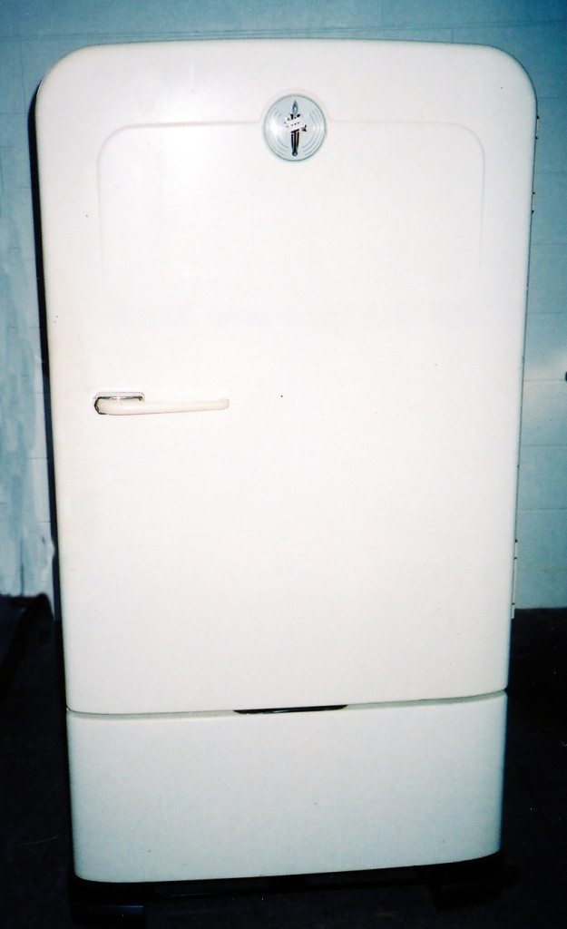 Grandma's natural gas powered refrigerator.