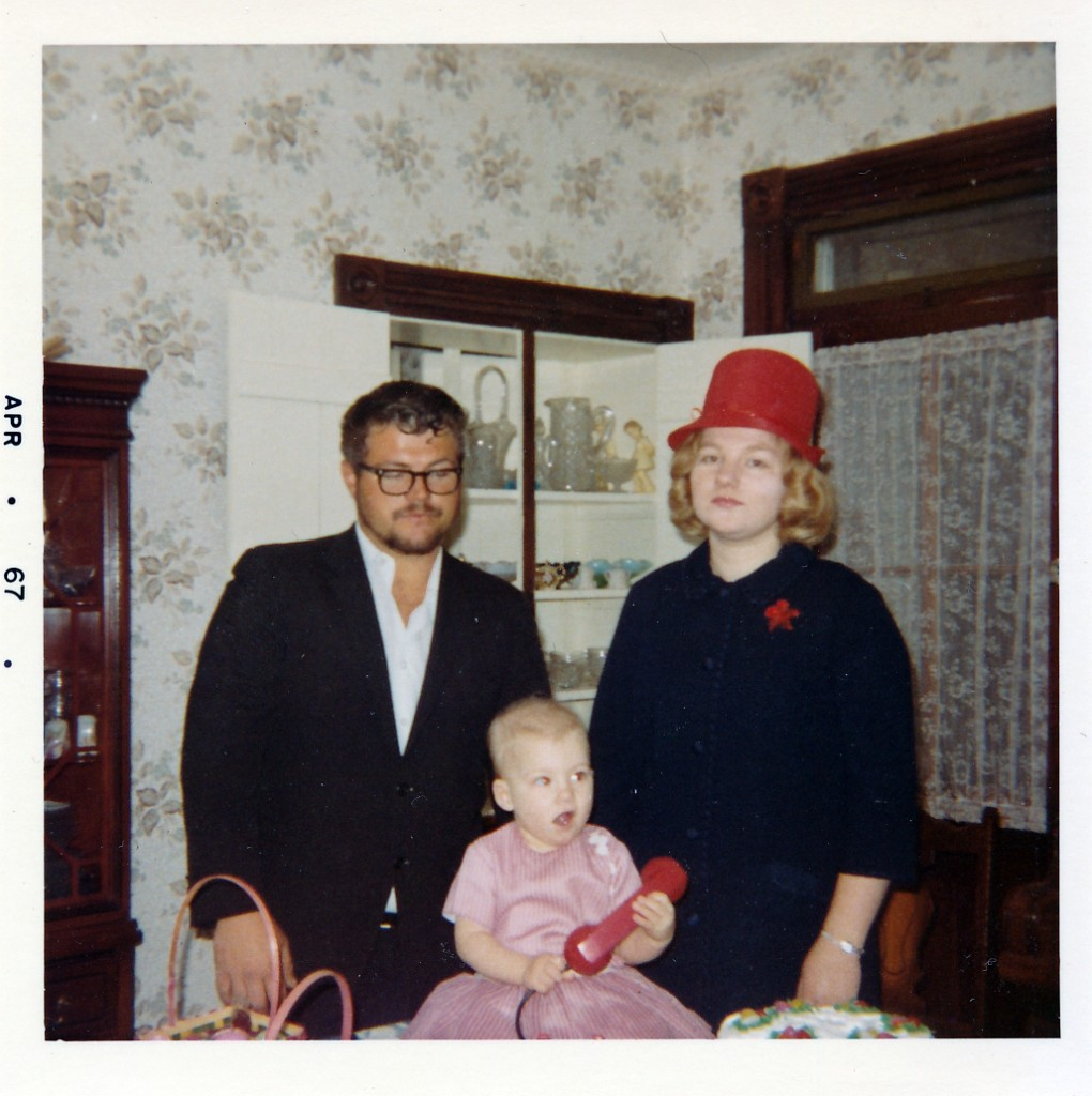 Easter March 26, 1967.  We still wore hats to church then, and I always loved hats.