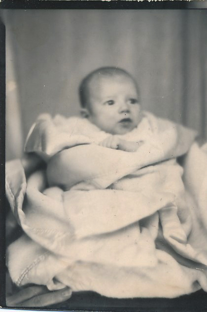 Pat was eight months old when this photo was taken.