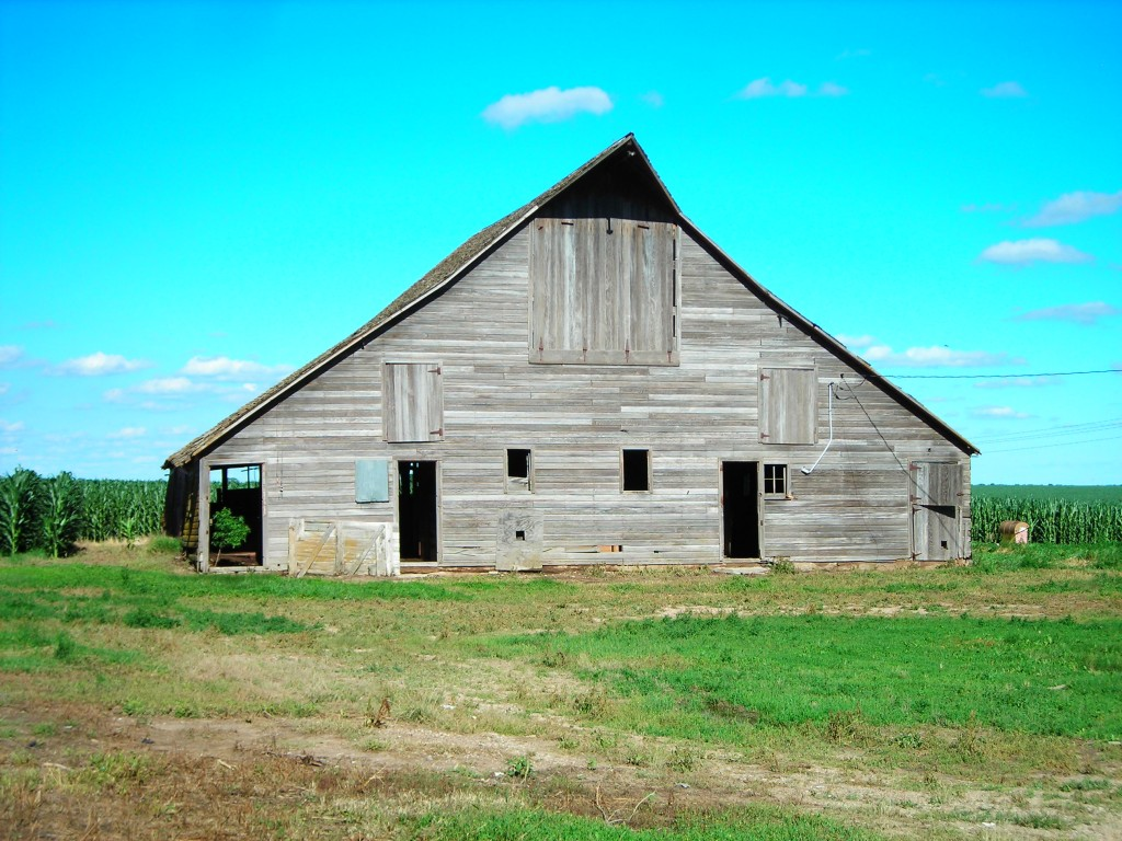 Photo of barn taken in August 2018.