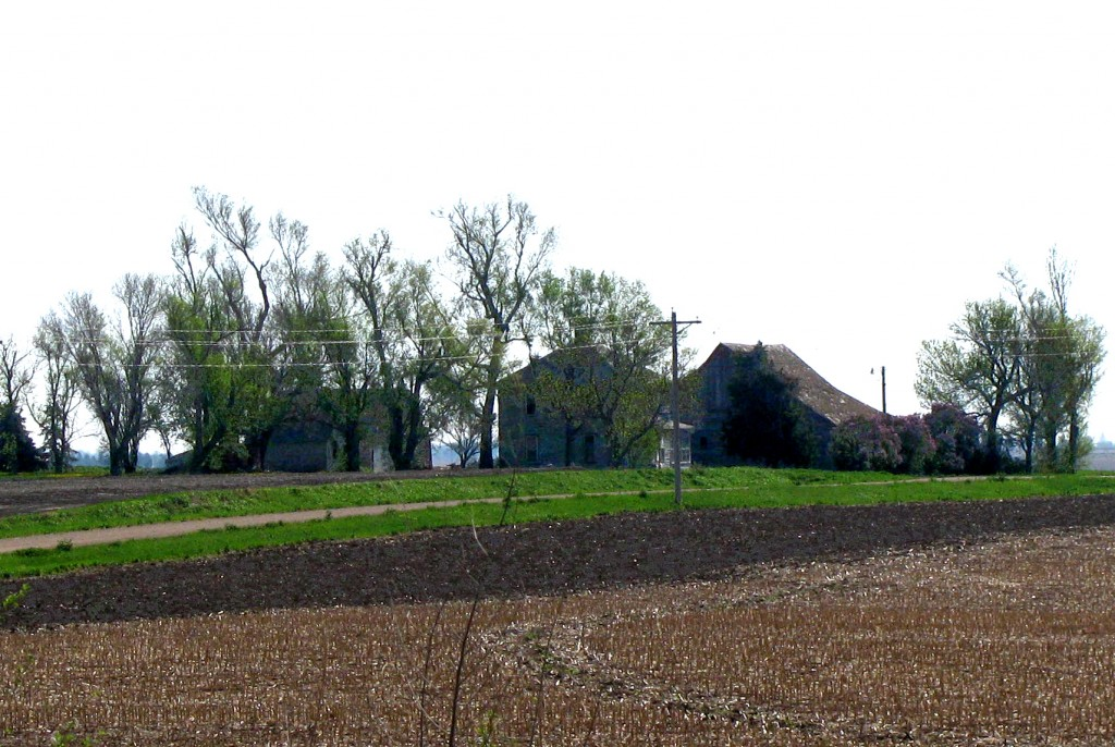 The Kleier farmstead as seen from my front yard in 2018.