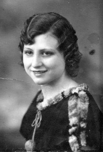 Maxine's 1934 high school graduation photograph.
